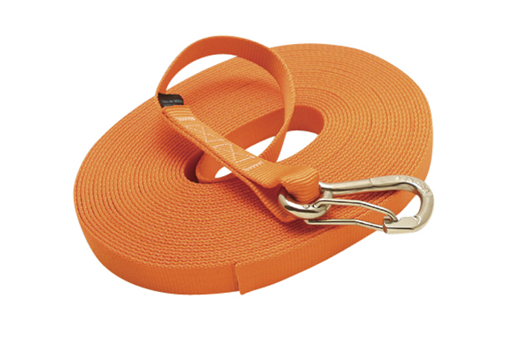 Single Jackline with Clip - Orange, nylon webbing, stainless steel heavy duty harness clip, C0240-0035-H-O, C0240-0045-H-O, C0240-0055-H-O