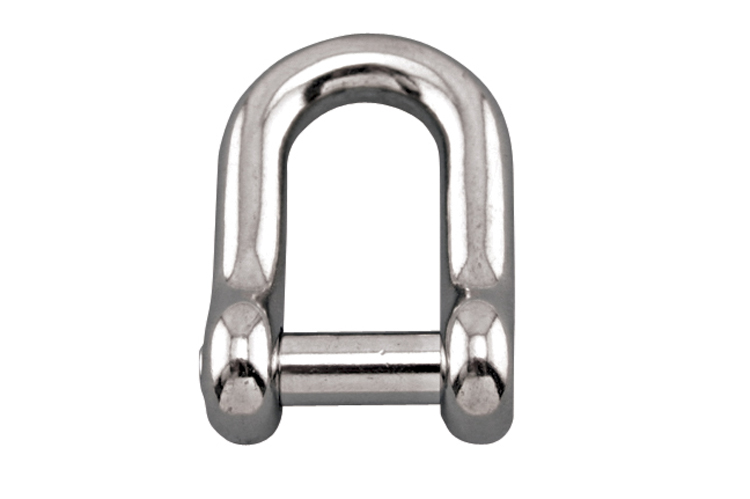 Stainless Steel straight D Shackle with No Snag Pin, S0115-NS06, S0115-NS08, S0115-NS10, S0115-NS12, S0115-NS13, S0115-NS16, S0115-NS20, S0115-NS22, S0115-NS25