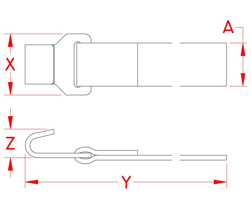 Webbing Assembly with Flat Hook, 1