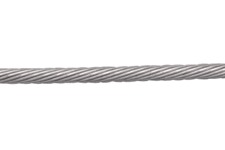 1x19 Wire Rope, 304 stainless steel, left hand lay, S0702-0003, S0702-0003-5, S0702-0004, S0702-0004-1, S0702-0004-5, S0702-0005, S0702-0005-1, S0702-0005-5, S0702-0007, S0702-0007-1, S0702-0007-3