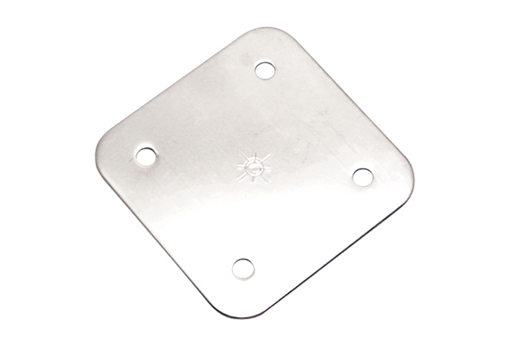Stainless Steel Heavy Duty Square Back Plate, S3704-0001