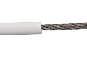 Product Image for Stainless Steel 7x7 White PVC Coated Wire Rope